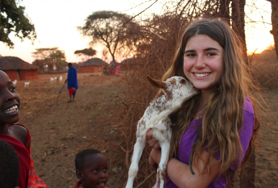 Tanzania-Volunteer-Summer-Program-Teen-Goat