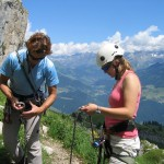 Learn the basics of rock climbing with professional Alpine guides.