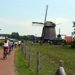 On your bike trip through Holland, windmills will be a familiar sight.