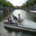 Paddle boats are a great way to explore the canals of Amsterdam.