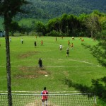 After projects finish each afternoon, we often head to the town's most popular spot—the 'cancha de futbol!'