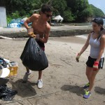 Last year we participated in a beach clean-up in nearby Anse de Mai.