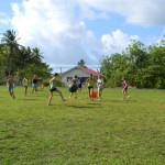 Afternoons are often spent swimming, hiking, our playing Yogaball soccer with local friends.