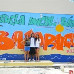 You'll be surprised how much your group can accomplish in two weeks. These students painted this mural at the local grade school this past summer.