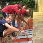 Work on several community projects including painting at the local school, light construction work mixing cement and laying blocks, and learning about local agriculture.