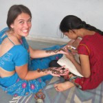 You can try your hand at temporary henna mendi decoration. It tickles!