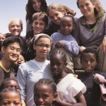 Olivia Sacks (top left) in Tanzania, 2004