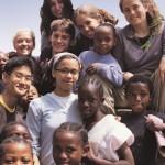 Olivia Sacks (top left) in Tanzania, 2004