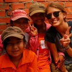 There is time at the work site to get to know the local kids who provide endless positive energy.