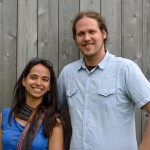 Anaar Desai-Stephens and Andre Elias co-led the Community Service India program in 2013.