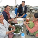You can help your guest-house hosts to prepare food during the trek.