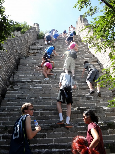 Teens at Great Wall of China on Summer Program Abroad