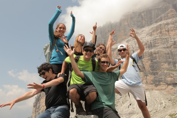 Teens hiking abroad on European summer program