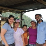 Our 2013 Language Learning Costa Rica leaders Alex Ossola and Javier Mercado with friends from their host community.