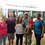 Our 2012 Language Learning Costa Rica leaders Nick Wolters and Anna Krishtal with friends from their host community.