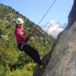 A Putney student learns the ropes, rock climbing in the Alps.