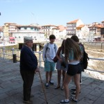 We begin our trip in a small fishing town on Spain's northern coast. Active language lessons include interviews with local Spaniards.
