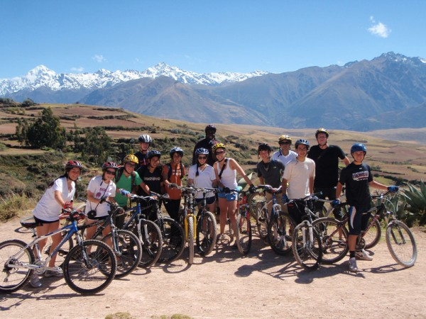 High School Teens Biking in Peru's Sacred Valley