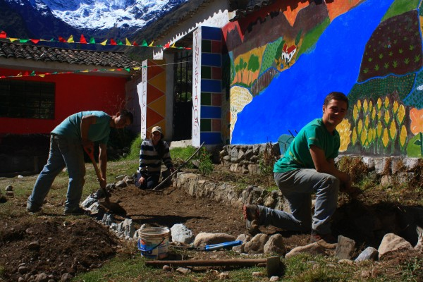 Teen Volunteers Doing Community Service in Peru