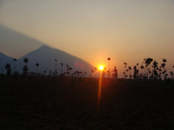Volcano National Park Sunset Rwanda Africa