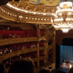 Students enjoy a show at the Opera Garnier in Paris.
