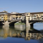 The Ponte Vecchio spans the River Arno in Florence.