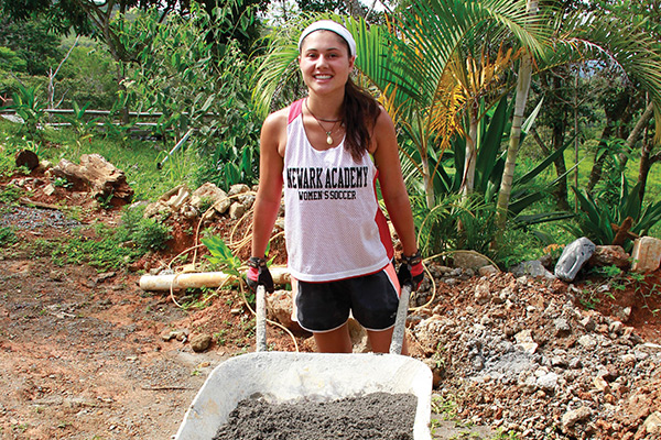 A construction project on our community service program in Costa Rica