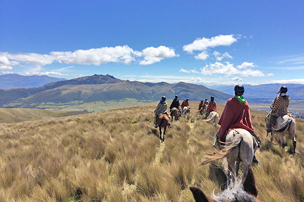 Students ride horses on our community service program in Ecuador and the Galapagos
