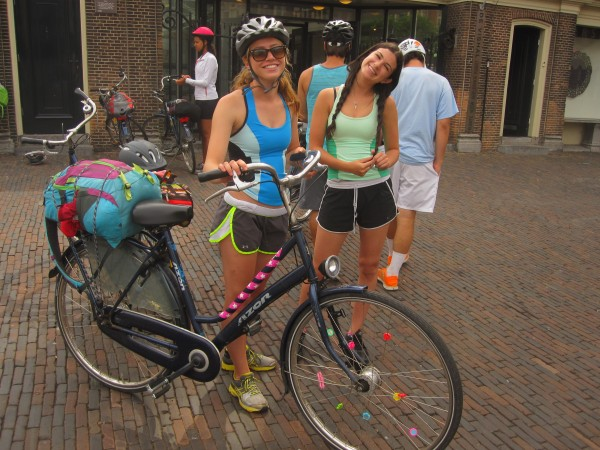 teens biking in europe on summer program abroad