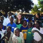 Emily joins a training session at an HIV/AIDS support organization, rural Malawi.