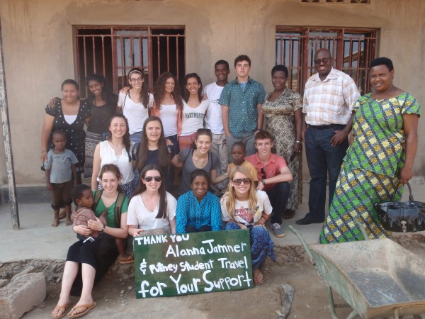 Jeremy, back row, fifth from right, with his group in Rwanda