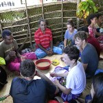 When we arrive at the village we are welcomed into the community with a traditional kava ceremony.