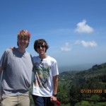 Jack (at left), hiking the highlands, eastern Cabanas province, El Salvador.