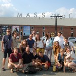 The staff poses for a group shot outside of MASS MoCA earlier this week.