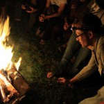 No camp out is complete without some roasted marshmallows.  Michael Schwebel (Community Service Ecuador C) demonstrates his mallow roasting skills.