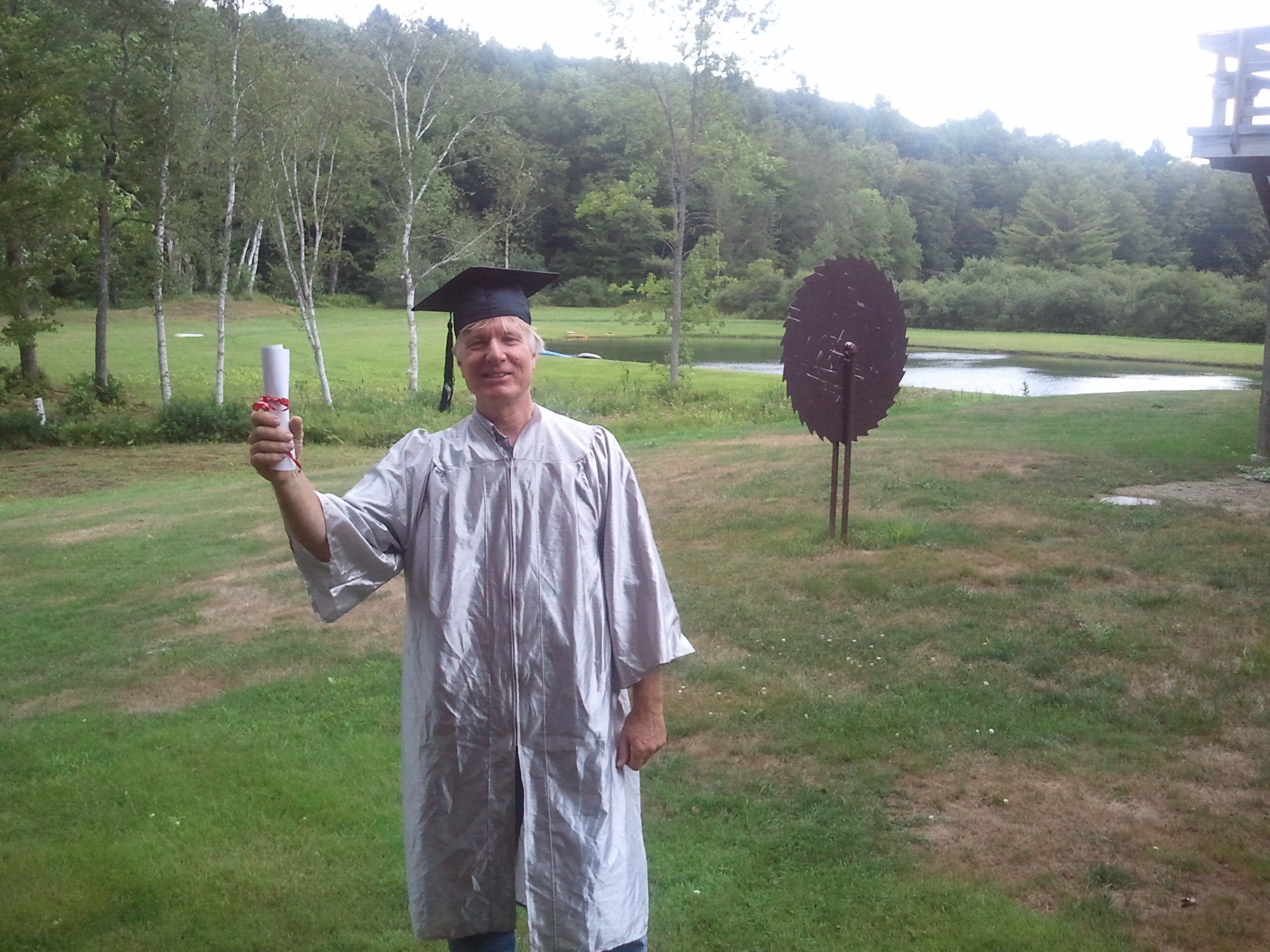 "Jim has been referring to his final day as a ""graduation"" for months.  The Barn staff put together a little ceremony befitting of the big event this afternoon.  Complete with Pomp and Circumstance.  We'll miss you Jim!"