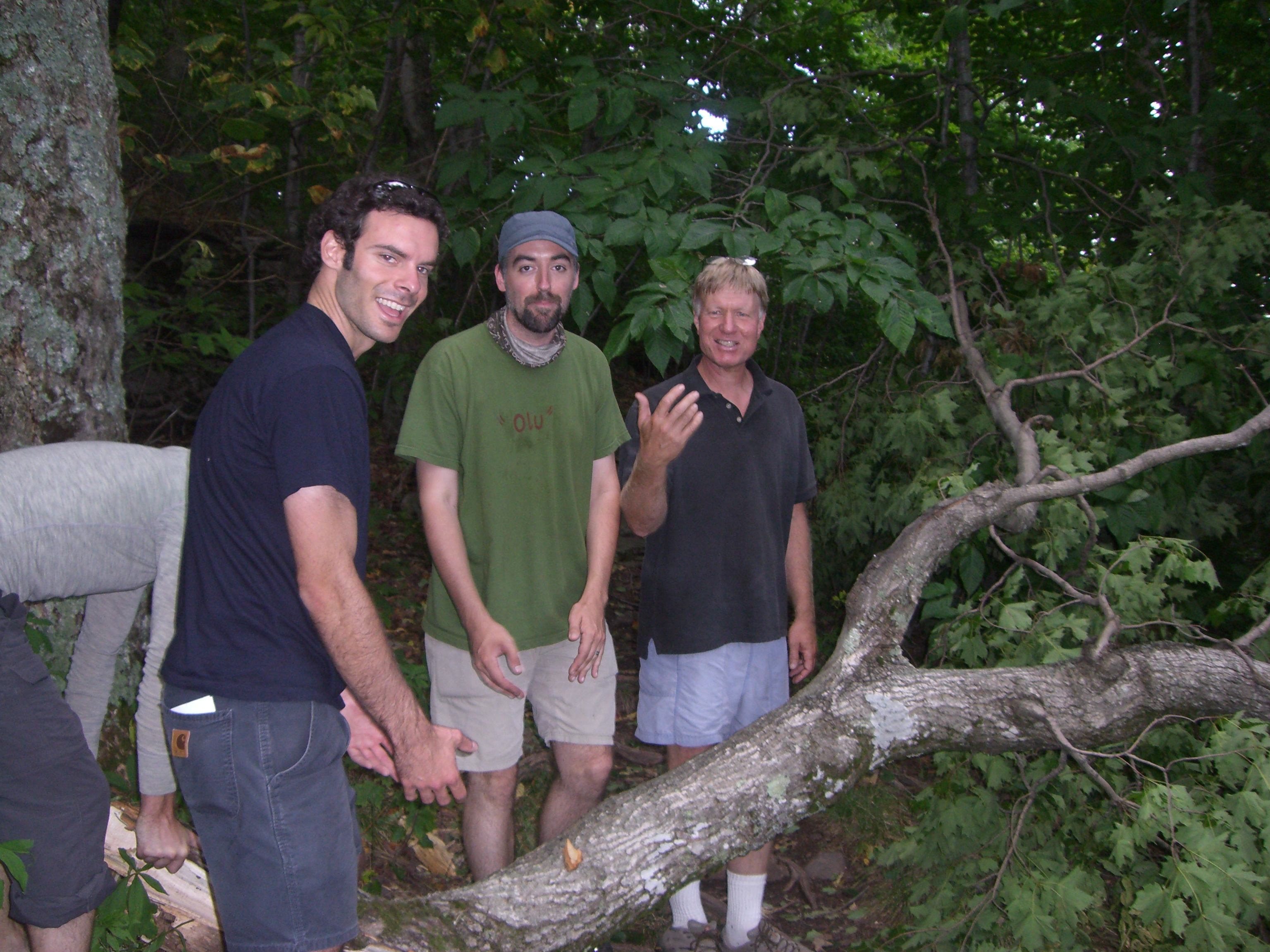 Jim joined by co-workers and friends, Harry Kahn and Patrick Noyes during the 2008 Director's Retreat held in the Catskills.