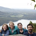 Maggie, Kristin, Jaime, and Patrick at the lookout from Mount Pisgah