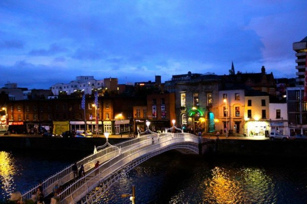 Dublin's iconic Ha'penny Bridge over the River Liffey. Photo by Brenna Casey.