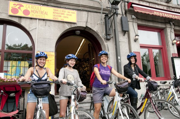 Go on a bike tour of Old Montreal