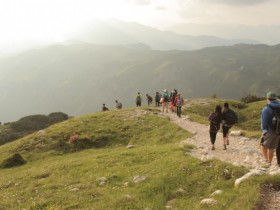 Teen Students Hiking the Alps on European Summer Program