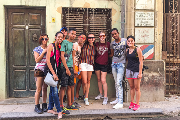 Students get to know Cuban teens in Havana on our cultural exploration program in Cuba