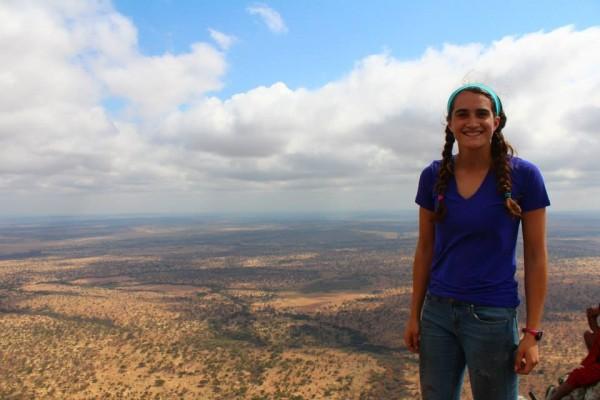 Madison Bailey in Tanzania.