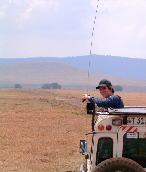 Danny Feinberg on safari