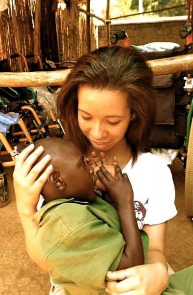 Gracie with Bienvenie on her Community Service Rwanda program Putney Student Travel BestWeb