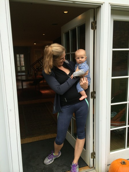 Baby Maceo gets ready for his first collective marathon!