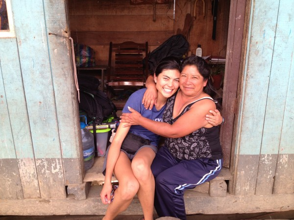 Ryanne with a coordinator from one of our Ecuadorian communities.