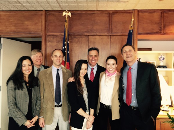 Putney directors and family traveled to Montpelier to support and congratulate Peter.