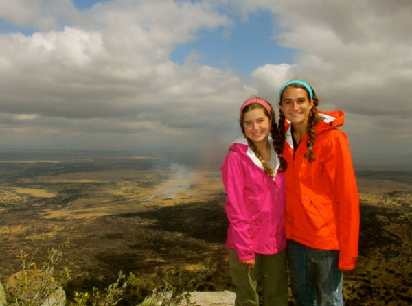 Stephanie's nieces Madison and Cameron on our Community Service Tanzania program. The two applied independently of one another and were pleasantly surprised to find themselves in the same program!